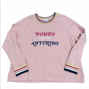 Time and Tru Sweatshirt Women Can do Anything